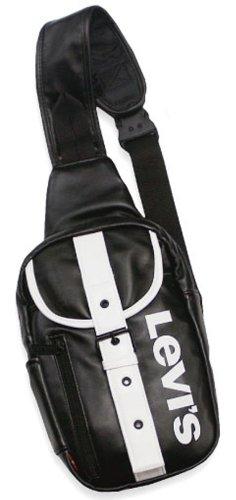 (リーバイス)Levi's フェイクレザー ボディバッグ LV5670 (5A:ブラック×ホワイト)