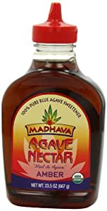 Madhava Organic Amber Agave, 23.5-Ounce (Pack of 6)