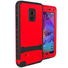 buy Red Redpepper Underwater Waterproof Fingerprint Scanner Stand Shockproof Snowproof Dirtproof Durable Full Sealed Protection Case Cover For Samsung Galaxy Note 4