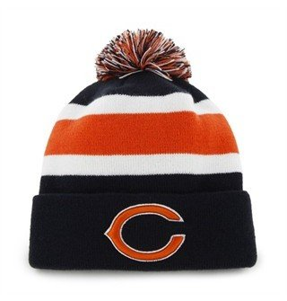 Chicago Bears Blue Cuff Breakaway Beanie Hat with Pom - NFL Cuffed Winter Knit Toque Cap (Bears Winter Hat compare prices)