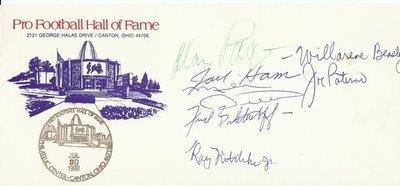 Signed Alan Page Football - 1988 HOF by Joe Paterno Jack Ham + 4 JSA LOA - Autographed Footballs