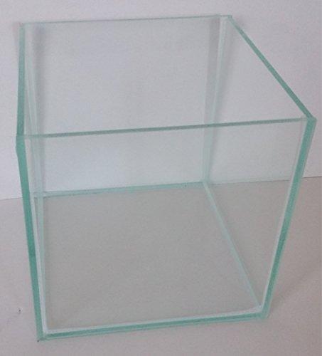 8-Liter-Glasaquarium-Wrfel-20x20x20-cm-Glasbecken-Nano-Aquarium-transparent-verklebt