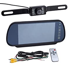 7-Inch LCD Color Screen Car Back up Rearview Monitor with Car Rearview Backup Camera