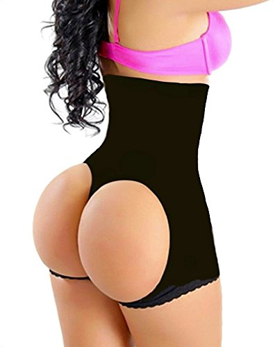 SHAPERQUEEN 203 Waist Cincher Girdle Belly Slimmer Trainer Sexy Shapewear Butt Lifter S, Black (Cincher And Butt Lifter compare prices)