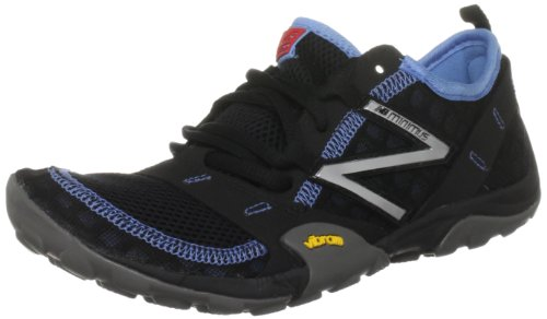 New Balance WT10BL, Women's Minimus Trail Runner, Black/Blue, 8.5B