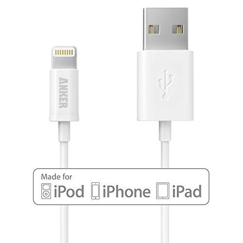 Anker プレミアムライトニングUSBケーブル Apple認証(Made for iPhone取得) コンパクト端子 ホワイト0.9m A7101021