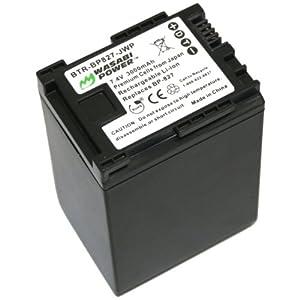 Wasabi Power Battery for Canon BP-827 and Canon VIXIA HF G10, HF G20, HF M30, HF M31, HF M32, HF M40, HF M41, HF M300, HF M400, HF S10, HF S11, HF S20, HF S21, HF S30, HF S100, HF S200, HF10, HF11, HF20, HF21, HF100, HF200, HG20, HG21, HG30, XA10