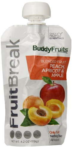 Buddy Fruits Fruitbreak Blended Fruit Peach, Apricot and Apple, 4.2 Ounce (Pack of 14) - 1