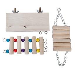 Set of 3pcs Hamster Mouse Ladder Swing Toy Set