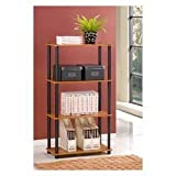 4 Tier Bookcase Storage Cabinet - Cherry Finish