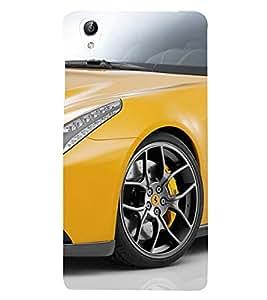 Yellow Sports Car 3D Hard Polycarbonate Designer Back Case Cover for vivo Y51 :: VivoY51L