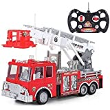Prextex® 15 Rescue R/c Fire Engine Truck Remote Control Fire Truck Best Gift Toy For Boys With Ligh