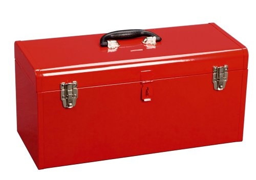 Excel TB139-Red 19-Inch Portable Steel Tool Box, Red