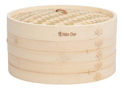 Helen Chen's Asian Kitchen Bamboo Steamer, 12-Inch