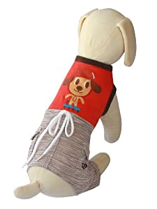 UP Collection Fun Doggie Tank Top with Integrated Dog Shorts, X-Small