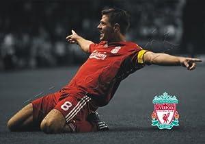 Steven Gerrard Goal Celebration A1 A2 A3 Poster Wall Art by Tru Designz Accessories