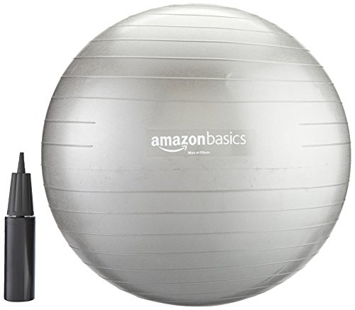 AmazonBasics Balance Ball with Hand Pump - 55 cm
