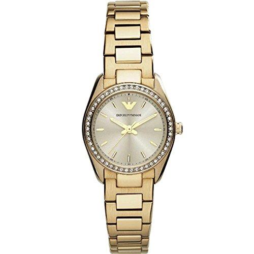 Emporio Armani AR6031 Mujer Oro Relojes de pulsera Nuevo