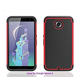 [For Google Nexus6 / MOTO X Pro ]Luxury Fashion Rugged Shockproof Holster Heavy Duty Armor Shield 2-in-1 Hybrid Dual Case Cover Skin by Arcraft(TM)