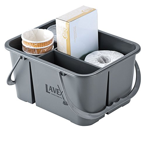 Lavex Janitorial 4 Compartment Gray Janitor Caddy - 11 1/2