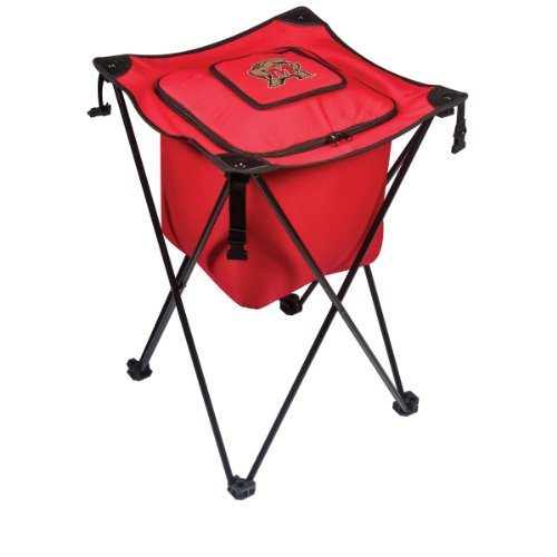 Ncaa Maryland Terrapins Sidekick Insulated Portable Cooler With Integrated Legs, Red front-593202