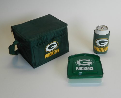 NFL Packers Lunch Cooler, Sandwich Container & Pocket Koozie | Green Bay Packers Lunch Set at Amazon.com