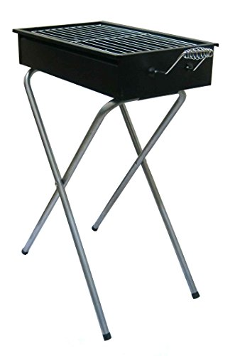 Fabrilla-Barbeque-Charcoal-Portable-Grill-(With-5-Skewers-And-Stand)