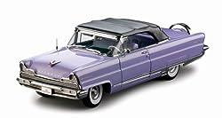 1956 Lincoln Premiere Closed Convertible Purple 1/18 Platinum Edition