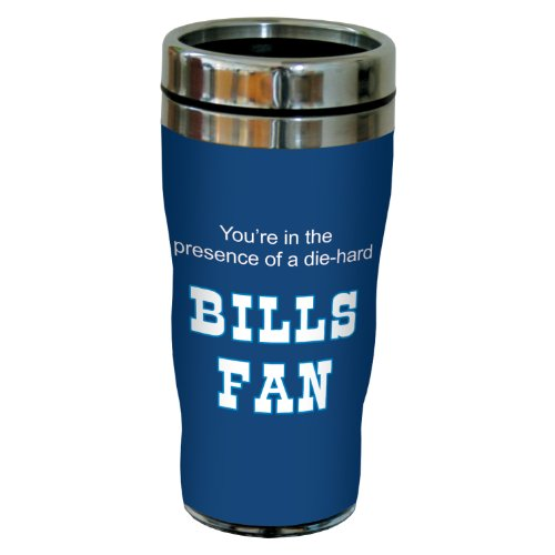 Tree-Free Greetings Sg24110 Bills Football Fan Sip 'N Go Stainless Steel Lined Travel Tumbler, 16-Ounce