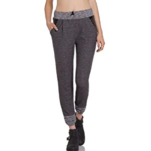 DailyLook Women's, Leatherette Pocket Sweatpants, gray, M