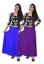 Ace Long Skirt-Blue,Purple