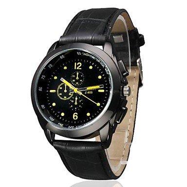 OrrOrr Uhr Sport Datum Chronograph Armbanduhr Leder Herrenuhren Quarzwerk Uhr Watch gelb
