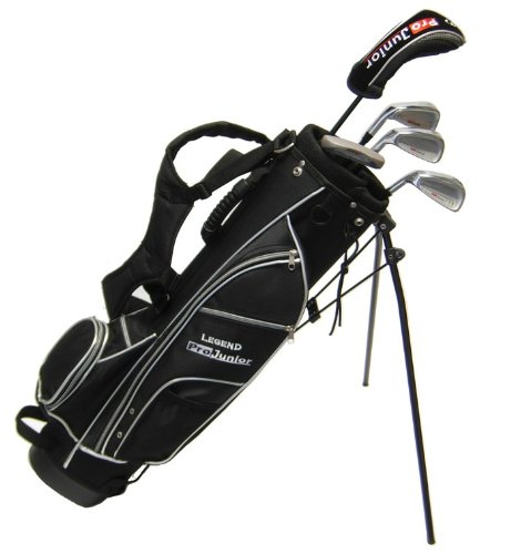 Pro Junior Left Handed Golf Club Set & Bag (Age 10-14)