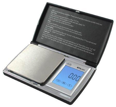 American Weigh Scale Bt2-201 Digital Gram Pocket Grain Jewelry Scale, Black, 200 X 0.01 G