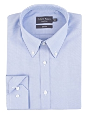 Pure Cotton Quick Iron Slim Fit Poplin Shirt