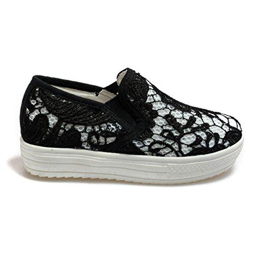 Colors of California Laceup6k-Bis bambina, tela, sneaker slip on, 34 EU