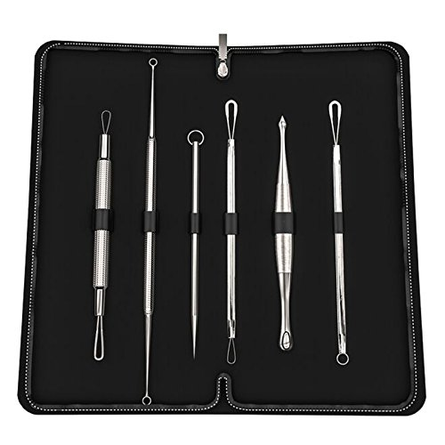 Best BLACKHEAD & Blemish Remover Kit - 6 QUALITY ProfessiBest BLACKHEAD & Blemish Remover Kit - 6 QUALITY Professional Instruments, FREE EBOOK, 100% SURGICAL GRADE STAINLESS STEEL - Acne Treatment - Easily Cure Pimples, Comedones, and Facial Impurities