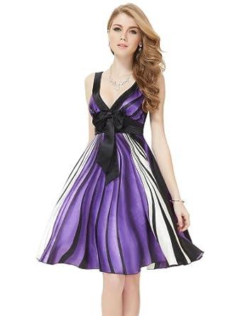 HE27181PP06, Multiple(purple), 4US, Ever Pretty Short Summer Party Dresses 27181
