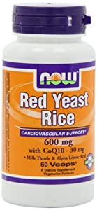 NOW Foods Red Yeast Rice & Coq10, 60 Vcaps