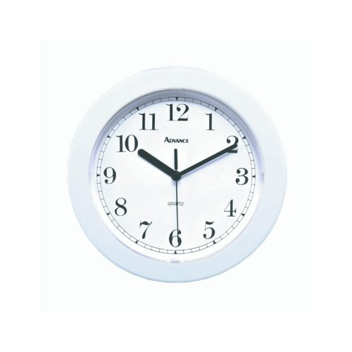Geneva Clock Co 8001 Advance Wall Clock (White)