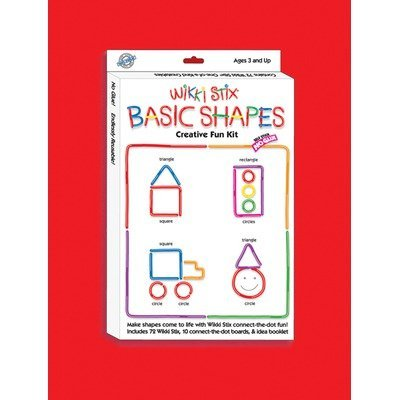 Colorful, Non-Toxic Wax And Yarn Product To Stimulate Imagination And Creativity - Wikki Stix Basic Shapes Creative Fun Kit