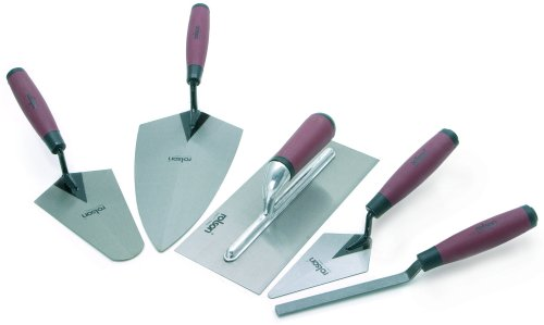 Rolson Tools 52489 5pc Tradesman Trowel Set With Soft Grip