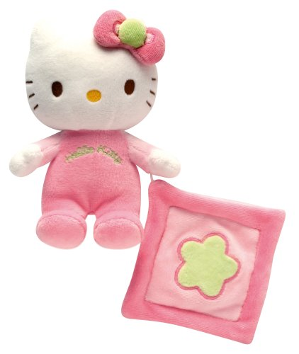 Sonajero Hello Kitty de peluche con Mini Doudou