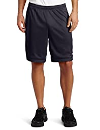 Champion  Men\'s Long Mesh Short With Pockets,Navy,LARGE