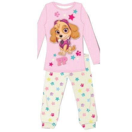 Skye-pijama-T4-rosa-huellas-estrellas