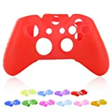 Skque® Soft Silicone Skin Case Cover for Microsoft Xbox One Controller, Red