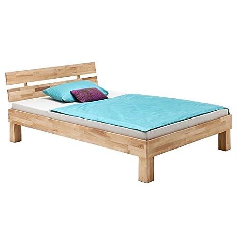Lit double lit adulte cadre de lit king size LARA 160 x 200 cm hêtre massif naturel huilé