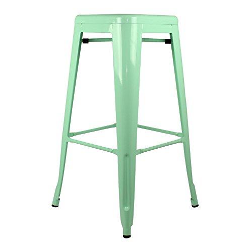 Tabouret de bar vert 6 - Tabouret de bar style tolix ...