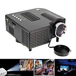 CROCON UC 28+ Mini Portable Multimedia Projector Connect with HDMI/VGA/AV/USB/SD.
