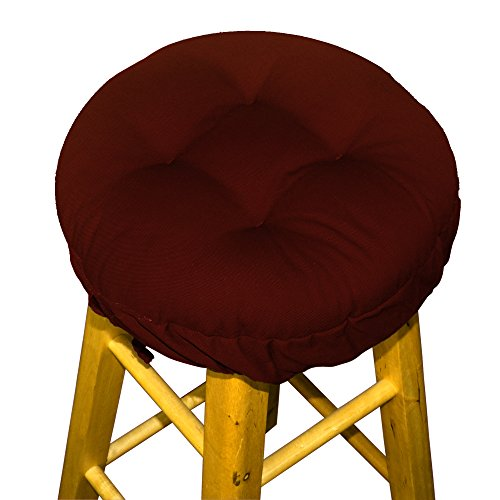 13 Round Barstool Cushion With Drawstring Yoke Solid